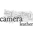 camera bag leather vector image vector image