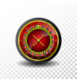 casino with roulette wheel on vector image vector image