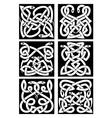 Celtic snakes knot patterns with tribal ornament vector image vector image