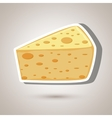 cheese isolated design vector image