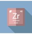 Chemical element Zirconium Flat vector image vector image