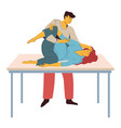 childbirth preparing woman with contractions vector image vector image