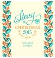 Christmas mistletoe border vector image vector image