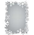Christmas snowflakes grunge frame vector image vector image