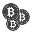 crypto currency icon vector image