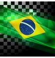 design of Brazilian flag vector image vector image