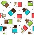 different chocolate types seamless pattern vector image vector image