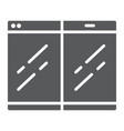 folding smartphone glyph icon gadget and vector image vector image