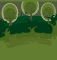 forest of magic trees vector image