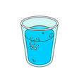 glass of mineral water vector image vector image