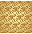 Golden Seamless Pattern with Grapes and Leaves vector image vector image