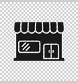 grocery store icon in transparent style shop vector image