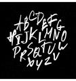 hand drawn alphabet on black vector image vector image
