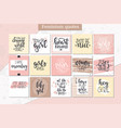 hand drawn typography poster or cards conceptual vector image