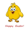 Happy cartoon Easter little chick vector image vector image