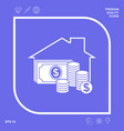 home insurance icon graphic elements for your vector image