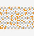 honeycomb seamless pattern geometric hexagons vector image vector image