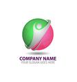 Human Technology Logo Icon Template vector image vector image