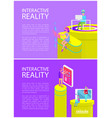 interactive reality set poster vector image vector image