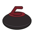 Isolated curling design vector image vector image