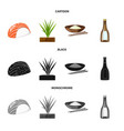 isolated object of crop and ecological logo set vector image