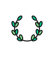 laurel wreath olive branch victory flat color vector image