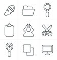 Line Icons Style Graphic design icons vector image vector image