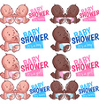 Logo template for baby shower boy girl and twins vector image vector image