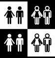 male and female sign black and white vector image vector image