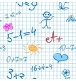 Maths Doodle Note Background vector image vector image
