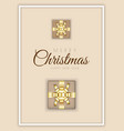merry christmas minimal design with xmas gift box vector image vector image