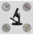 Microscope bacteria and viruses vector image