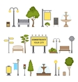 Outdoor Object Set vector image vector image