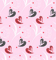 pattern pink heart texture vector image vector image
