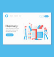 pharmacy concept doctor pharmacist and drugs vector image