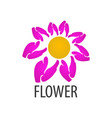 pink flower logo concept design symbol graphic vector image