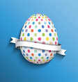 polka dot easter egg background 0703 vector image vector image