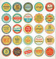 premium quality retro vintage labels collection vector image vector image