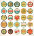 premium quality retro vintage labels collection vector image