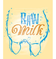 Raw Milk vector image vector image