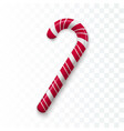 red and white christmas candy realistic sweet vector image vector image