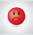 red cartoon face angry people emotion icon vector image vector image