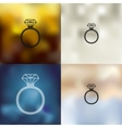ring icon on blurred background vector image