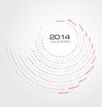 round simply calendar 2014 vector image vector image