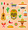 set mexican stickers vector image vector image
