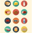 Set of food and products icons Flat design icons vector image vector image