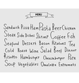 Set of hand drawn menu elements vector image