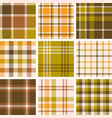 set plaid seamless pattern for fall season vector image vector image
