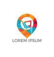 Shopping cart and map pointer logo design