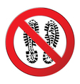 sign forbidden shoe vector image vector image